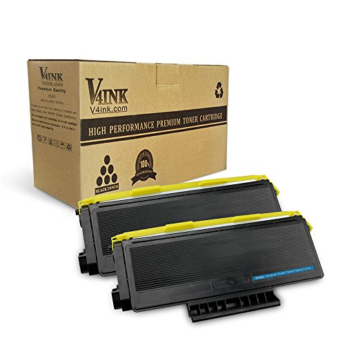 V4INK 2 Pack New Compatible Toner Cartridge Replacement for Brother TN650 TN-650 TN580 TN-580, for use in Brother HL-5250DN 5370DW 5340D 5280DW DCP-8080DN 8065DN MFC-8890DW 8860DN 8480DN 8460N 8870