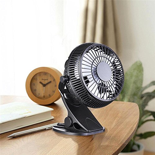 AMPERSAND SHOPS 7'' 2-Speed Clip Cooling Fan 360-Degree Rotation Power Cord USB Plug by AMPERSAND SHOPS (Image #2)