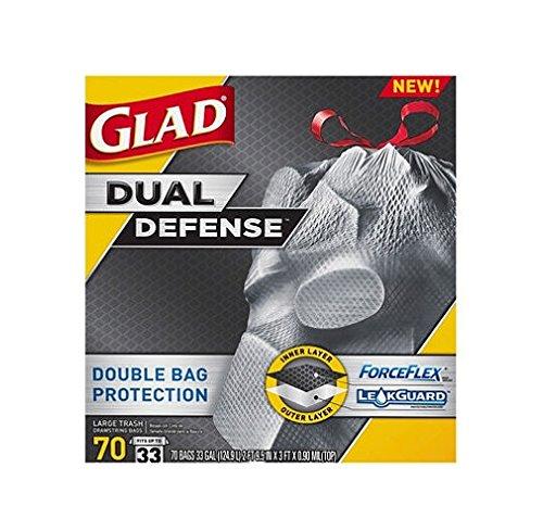 4 X Glad ForceFlex X-Large Trash Bags - 70ct./ 33 gal. by Glad