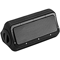 Portable Wireless Bluetooth Speakers V4.2 with TWS(True Wireless Stereo), Microphone, IPX5 Waterproof, 10-hour Playtime and 20 Watts Output Enhanced Bass Dual-Driver Speakers for Outdoor & Home Black