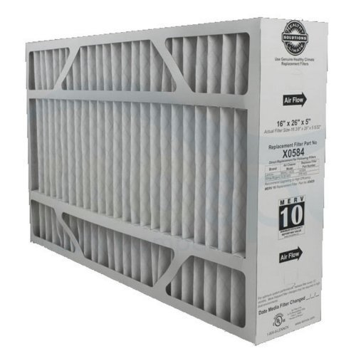 "Lennox X0584 MERV 11 Filter - 16"" x 26"" x 5"" - Genuine Lennox Product, White"