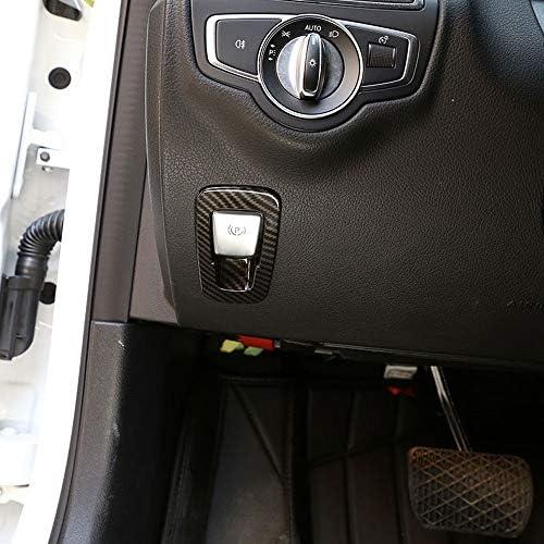 Cubierta De Freno De Mano Electrónico De Plástico Abs De Fibra De Carbono Para Mercedes Benz Glc Clase C W205 X253 E Clase W213 2015 2018 Accesorios Amazon Es Coche Y Moto