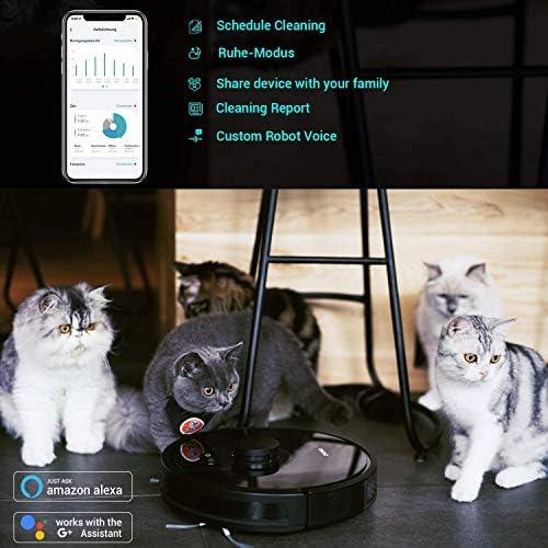Zigma Spark Robot Aspirateur, Aspirateur Robot Laveur avec fonction d'essuyage, APP Exclusive et Navigation LDS. Parfait pour les Tapis/les Sols/les poils d'animaux. - Home Robots