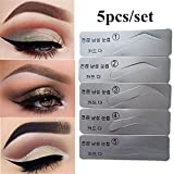 5Pcs Eyebrow Template Stencils Brow Grooming Card Trimming Shaping Beauty Tool yingyue