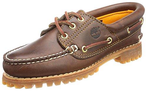 Timberland Womens Heritage Noreen Three-Eye Boat Shoe, Brown, 39 B(M) EU/6 B(M) UK