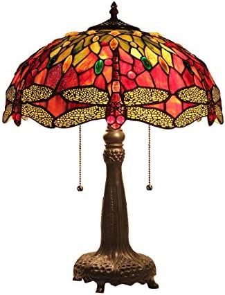 Chloe Lighting CH33471RD16-TL2 Empress Tiffany-Style Dragonfly 2 Light Table Lamp