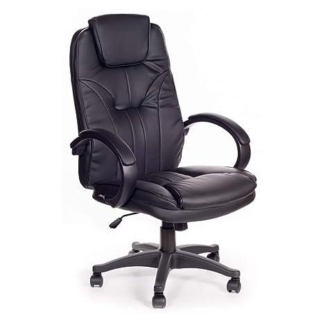 Poltrona ufficio presidenziale ergonomica Obama simil pelle: Amazon ...