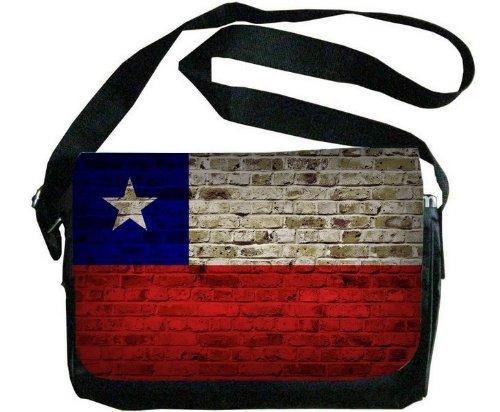 Chile Flag Brick Wall Design Messenger Bag