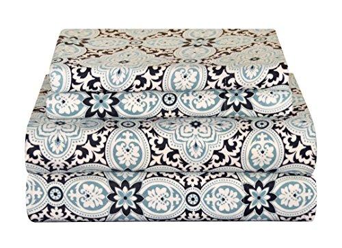 Pointehaven Heavy Weight Flannel Sheet Set, Queen, Ankara
