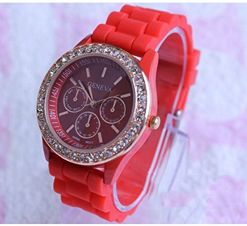 Geneva Crystal (Domire Ladies brand GENEVA Watch Classic Gel Crystal Silicone Jelly watch)
