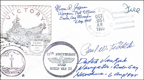 Enola Gay Crew (Paul W. Tibbets) - Commemorative Envelope Signed with co-signers