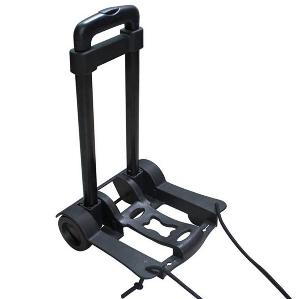 Portable Folding Luggage Cart Hand Truck Luggage Indoor Outdoor Travel Shopping Office, Black Cart (88Lb)