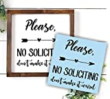 No Soliciting - Don't Make It Weird Stencil, Paint Your Own Sign, Reusable & Thick, by Barn Star
