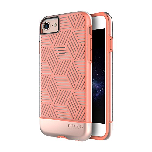 """Prodigee [Stencil] Rose Gold Oro Apple iPhone 7 & iPhone 6 / 6s 4.7"""" Phone case clear claro transparenteCaso, Flessibile Protettiva, Durevole, Shock Assorbimento, Custodia protettiva, delle casse del"""