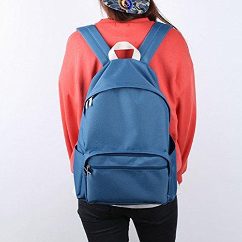 Bubilian BTBB Backpack / Korean Street Brand / School Bag / Travel Bag (Beige) Indie Blue