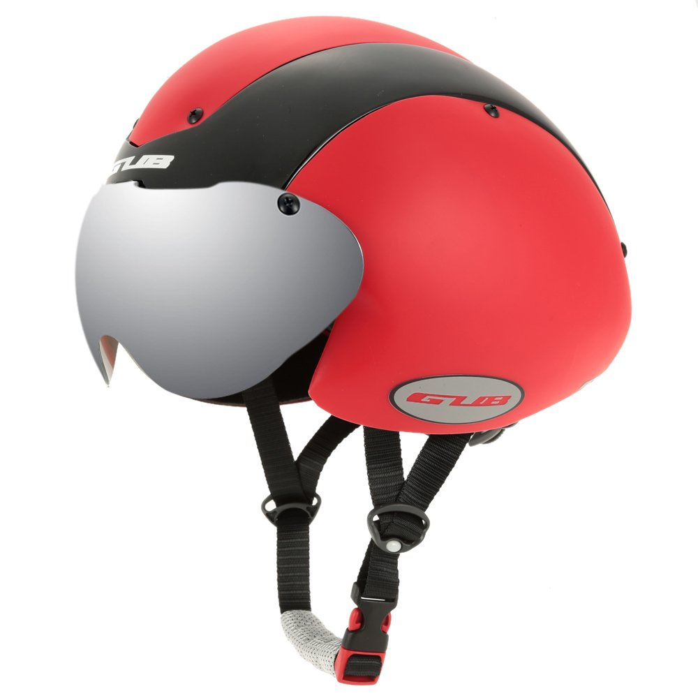 Unisex Cycling Helmet Ultralight Integrally-molded 13 Vents Bicycle Helmet Bike Skating 2 in 1 Helmet with Goggles - Red by New Brand (Image #2)