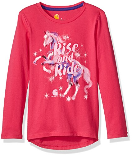 Price comparison product image Carhartt Big Girls' Ride Horse Tee,  Bright Pink,  S-8