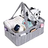 craft room organization ideas We Care Vida Diaper Caddy – Baby Registry – Best Baby Shower Gifts - Organize With Style Your Makeup, Yarn Craft, Toys, Wipes And Organizes Everything You Can Imagine - Gray Striped