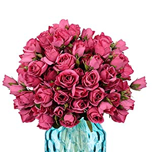 Yunuo 3PCS Artificial Flowers Fake Rose Perfect Wedding Decorations, Baby Showers,Home Decoration (Mulberry) 1