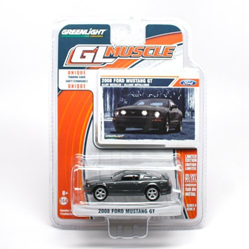 2008 Ford Mustang GT * GL Muscle Series 8 * 2014 Greenlight Collectibles Limited Edition 1:64 Scale Die-Cast Vehicle & Collector Trading Card