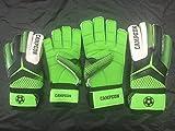 Football Soccer Goalkeeper Goalie Gloves Finger Protective Youth Size Green-black (10) (3)