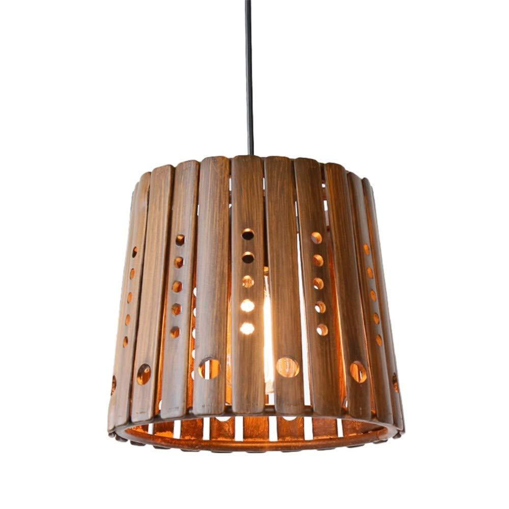 Kronleuchter, kreative Bambus Kronleuchter Restaurant Aisle Homestay Dekoration Single Head E27, 26  22cm
