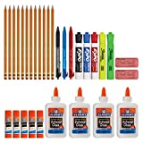 Back to School Supply Kit: Sharpie Highlighters, Paper Mate Pens, EXPO Dry Erase, Elmer's Glue & More, 31 Count