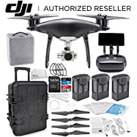 DJI Phantom 4 PRO+ PLUS Obsidian Edition Drone Quadcopter Includes Display (Black) Travel Case Ultimate Bundle