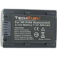 Sony DCR-SR100 Camcorder Replacement Battery - TechFuel Professional NP-FV30, NP-FV50 Battery