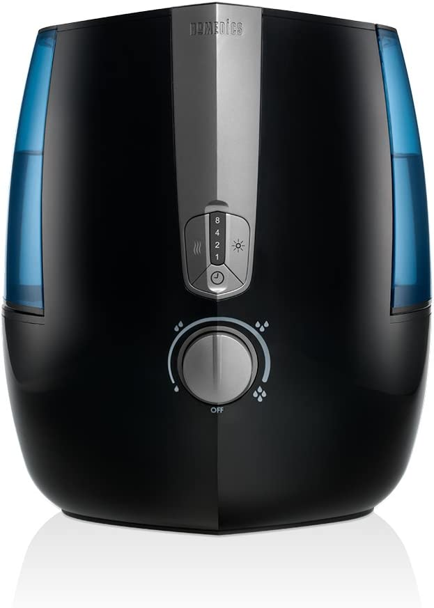 TotalComfort Humidifier Plus |Warm & Cool Misting Technology, 1.4 Gallon Tank, 65 Hour Runtime, Nightlight | Clean Tank Technology, BONUS DEMINERALIZATION CARTRIDGE, Portable | HoMedics