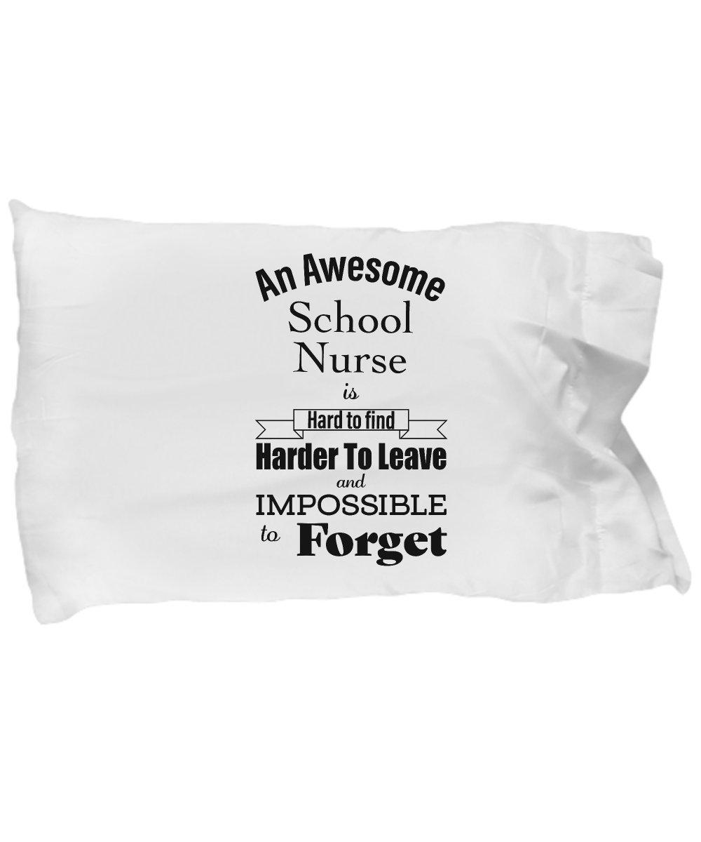 Retirement Gifts for School Nurse Pillow Case Thank You Appreciation for Retired Women Men Boss Coworker Friend Dad Mom Pillowcase Standard Size White