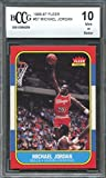 #7: 1986-87 fleer #57 MICHAEL JORDAN chicago bulls authentic rookie card BGS BCCG 10 Graded Card