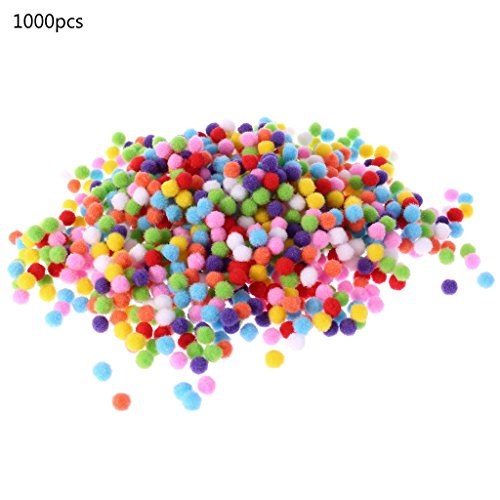 Itlovely 1000Pcs Soft Round Fluffy Craft Pompoms Ball Mixed Color Pom Poms 10mm DIY Craft by Itlovely (Image #7)