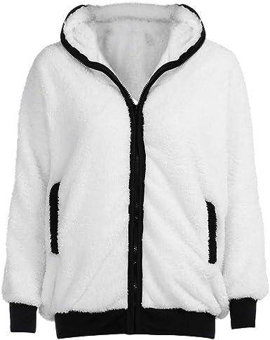 New Ladies Fur Lined Hooded Jumpers Double Zip Up Sweat Hoody Women Fleece Top
