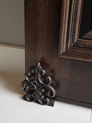 Lulu Decor, Cast Iron Fleur De Lis Door Stop, Door Stopper in Antique Black Finish, Beautiful and Useful Product (1) by Lulu Decor (Image #5)