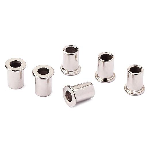 10 Stk Nickel 8mm Saitenhülsen Aderendhülsen Buchsen Adapter Set für