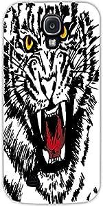 Boceto Snoogg De Tigre Blanco Ilustración Vectorial Diseñador Protectora Volv...