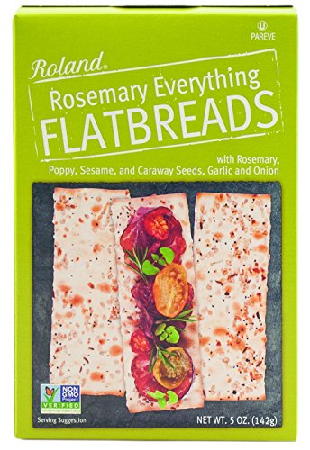 Roland Foods Flatbreads, Rosemary Everything, 5 Ounce (Pack of 6)