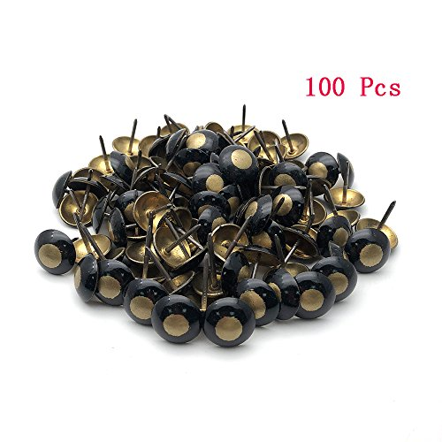 Sydien Copper Cat Eye Upholstery Nails Round Domed Head Upholstery Tack Pushpin Deco Tack 100 Pcs (19mm x 23mm) by Sydien
