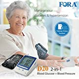 sugar pressure monitor - FORA D20 2 In 1 Blood Glucose / Pressure Meter [Health and Beauty]