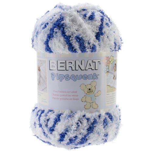 Bernat Pipsqueak Big Ball Yarn 5 Bulky Gauge  - 8.8 oz -  Blue Jean Swirl  - Baby Soft Yarn Machine Wash & Dry (Chunky Swirl Yarn)