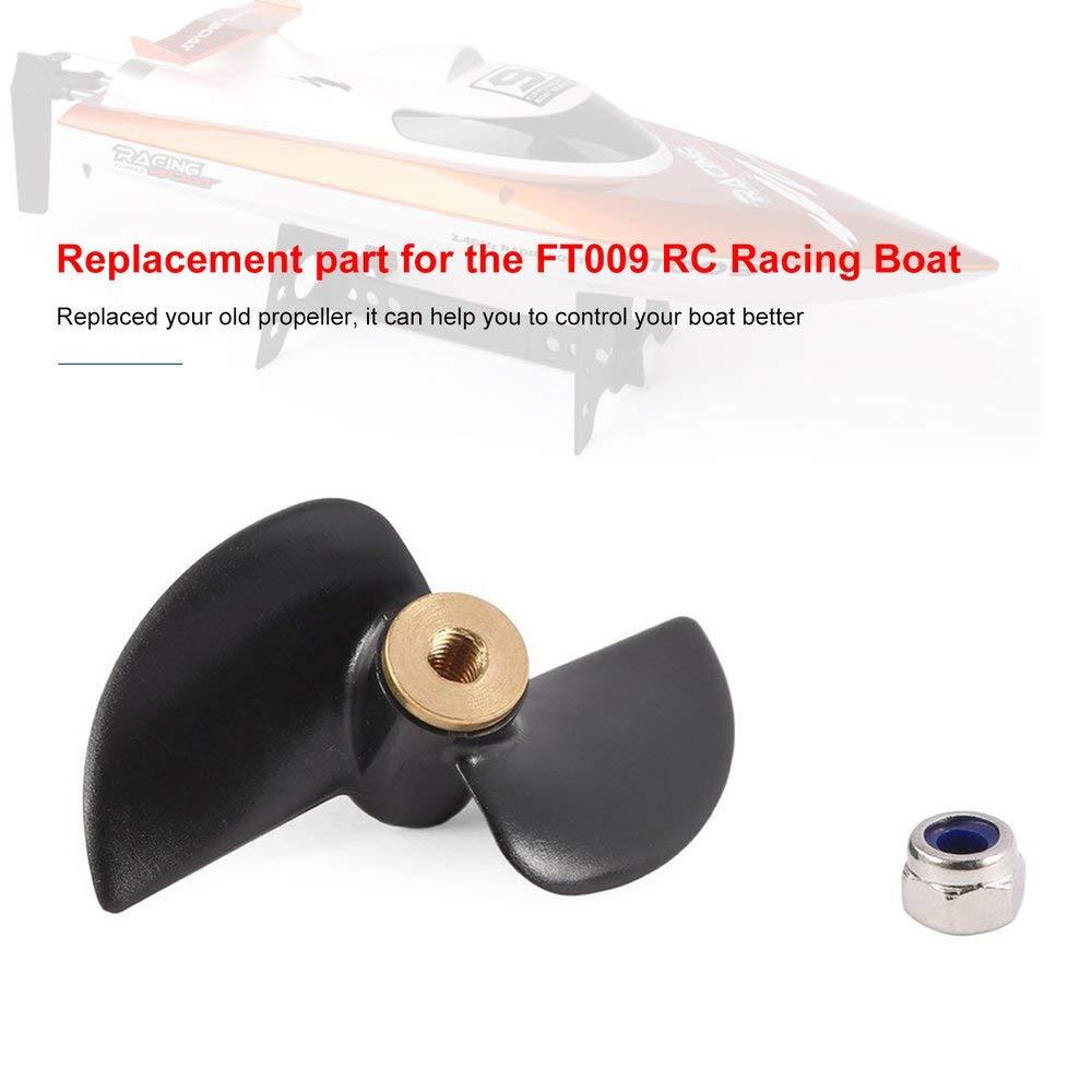 RoadRoma Accesorios del Juego de Piezas de Repuesto para la h/élice de Cola Feilun Ft009-12 para 2.4G Ft009 RC Boat Black