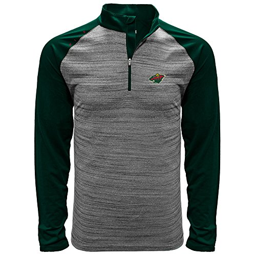 NHL Minnesota Wild Men s Vandal Wordmark Quarter Zip Mid-Layer dee6160dd