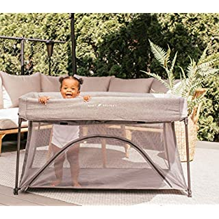 Baby Delight Go With Me Nod Deluxe Portable Crib & Playard, Charcoal Tweed