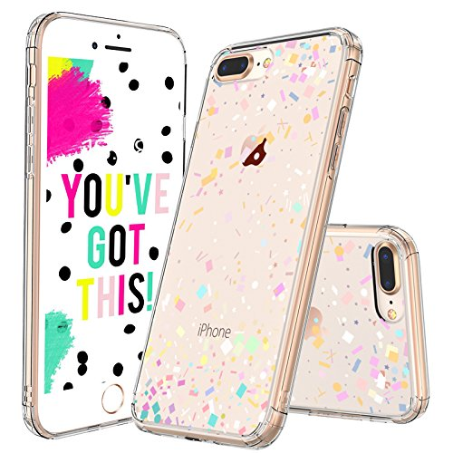 MOSNOVO iPhone 7 Plus Case, iPhone 8 Plus Cover, Colorful Confetti Pattern Clear Design Printed Plastic Back Case with TPU Bumper Protective Case Cover for iPhone 7 Plus (2016) / iPhone 8 Plus (2017) ()