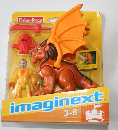Imaginext Winged Lion & Knight Mini - Lions New Den Fisher Price