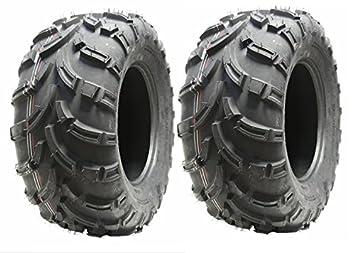 Conjunto de 2 neumáticos Quad 25X10-12 neumáticos de ATV 6ply 7psi 25 12 10.00 conjunto E marcada camino legal: Amazon.es: Coche y moto