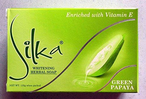 費用ジェームズダイソン男シルカ グリーン パパイヤソープ 135g Silka green papaya soap