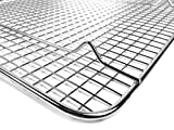 """Goson Kitchen Stainless Steel Heavy Duty Metal Wire Cooling, Cooking, Baking Rack For Baking Sheet, Oven Safe up to 575F, Dishwasher Safe Rust Free 