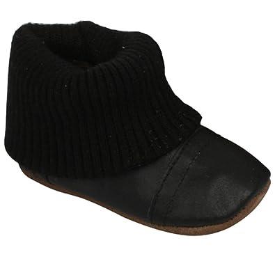 EnFant 810170U-00 Slipper Sock Knitted, Lernlaufschuhe, unisex, Schwarz, Gr. 18